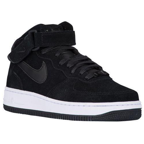 (取寄)Nike ナイキ レディース エア フォース 1 '07 ミッド Nike Women's Air Force 1 '07 Mid Black Black Black