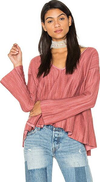(取寄)フリーピープル レディース サンデー プルオーバー トップ イン ピンク Free People women's Sundae Pullover Top in Pink