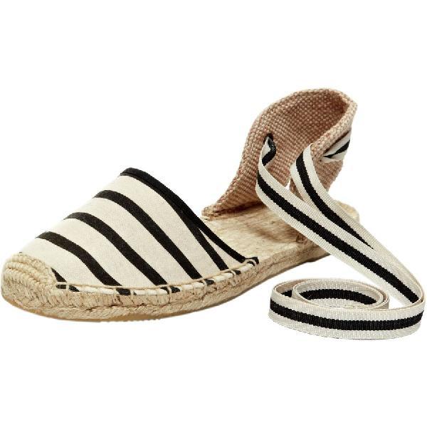 (取寄)ソルドス レディース クラシック サンダル Soludos Women Classic Sandal Natural Black Stripe
