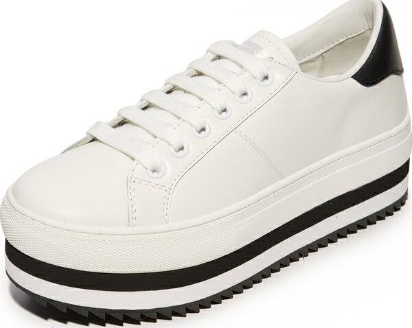 (取寄)Marc Jacobs Women's Grand Platform Sneakers マークジェイコブス レディース グランド プラットフォーム スニーカー White/Black