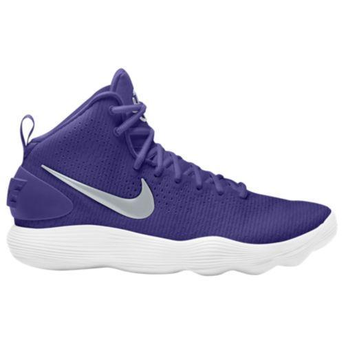 (取寄)Nike ナイキ レディース リアクト ハイパーダンク 2017 ミッド Nike Women's React Hyperdunk 2017 Mid Court Purple Metallic Silver White