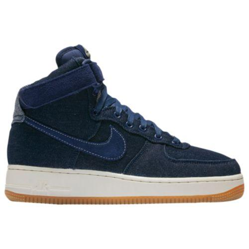 (取寄)Nike ナイキ レディース エア フォース 1 ハイ Nike Women's Air Force 1 High Binary Blue Muslin Sail Gum Light Brown