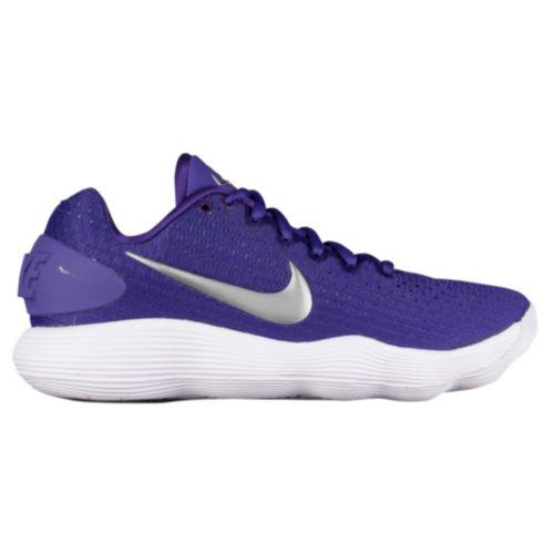 (取寄)Nike ナイキ レディース リアクト ハイパーダンク 2017 ロー Nike Women's React Hyperdunk 2017 Low Court Purple Metallic Silver White