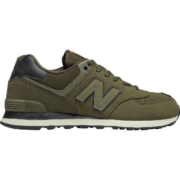 (取寄)ニューバランス メンズ 574 シューズ New Balance Men's 574  Shoe Triumph Green/Dark Military Green Leather