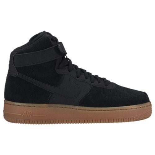 (取寄)Nike ナイキ レディース エア フォース 1 ハイ Nike Women's Air Force 1 High Black Black Gum Med Brown Ivory