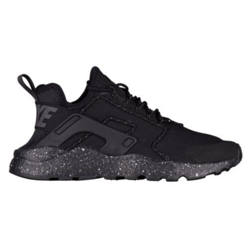 (取寄)Nike ナイキ レディース エア ハラチ ラン ウルトラ Nike Women's Air Huarache Run Ultra Black Black Dark Grey Metallic Silver