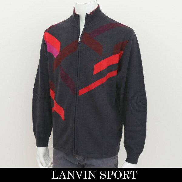 珍しい LANVIN SPORT(ランバン スポール)ジップアップセーターチャコールグレー系VMG4043B3 N14
