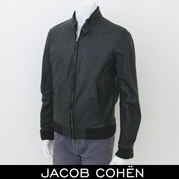JACOB COHEN(ヤコブコーエン)レザージャンバー革ジャンブラック226 27700(J8050 MC 00233N)