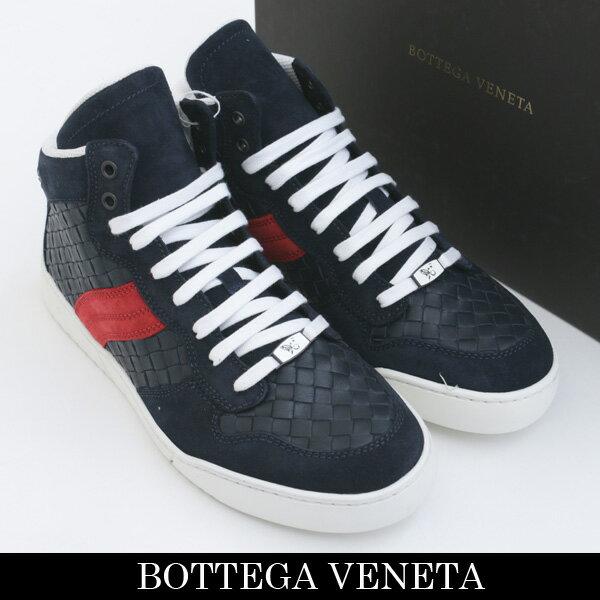 BOTTEGA VENETA(ボッテガヴェネタ)ハイカットスニーカーネイビー308886 VT038