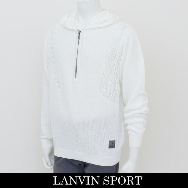 LANVIN SPORT(ランバン スポール)フード付きセーターホワイトVMH4041B3N N91