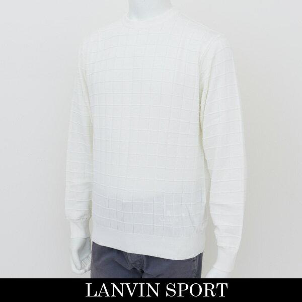 LANVIN SPORT(ランバン スポール)クルーネックセーターホワイトVMH4011A1 N91