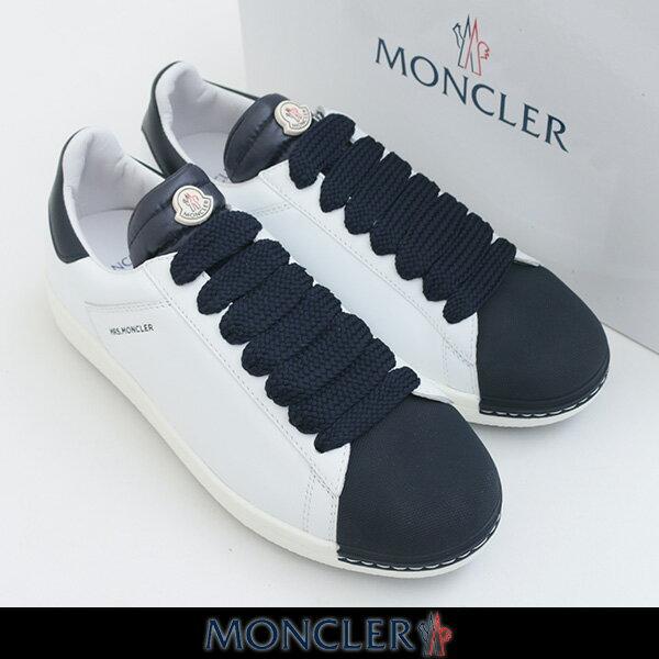 MONCLER(モンクレール)レディーススニーカー (ホワイト×ネイビー)ANGELINE