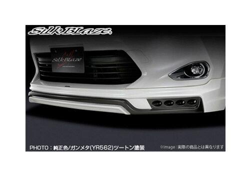 定番 【SilkBlaze】フロントスポイラー(LED付) 未塗装  シルクブレイズ エアロ ハリアー 60系 ZSU/AVU6#W 系にお勧め 品番:SB-60HA-FSL