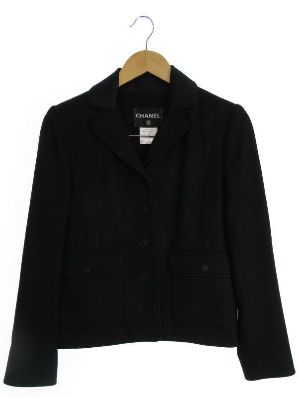 【CHANEL】【アウター】シャネル『ウールジャケット size40』08A レディース 1週間保証【中古】b02f/h16AB