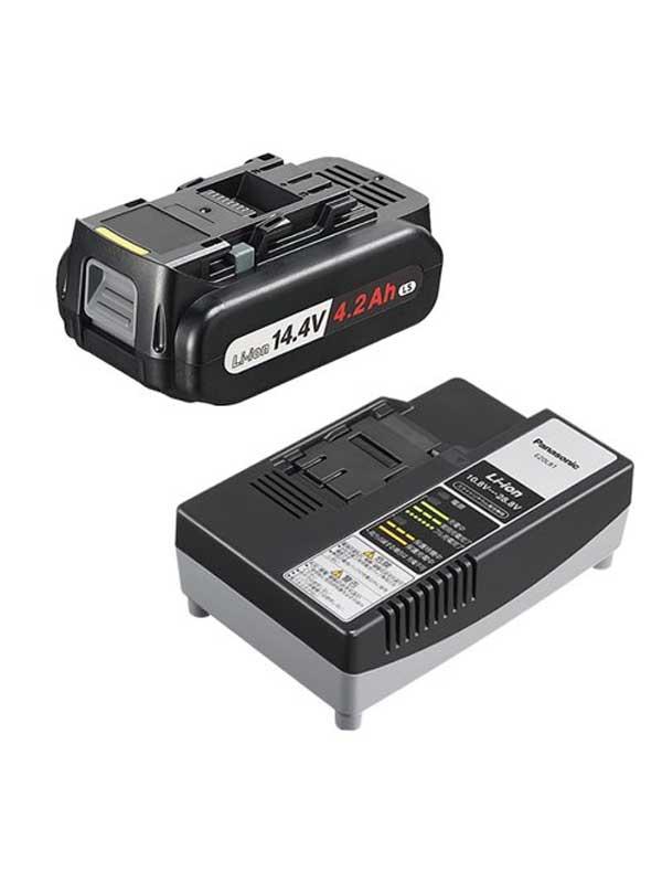 パナソニック『リチウムイオン電池パックLSタイプ&充電器セット』EZ9L45ST バッテリ 1週間保証【中古】b02t/h02S