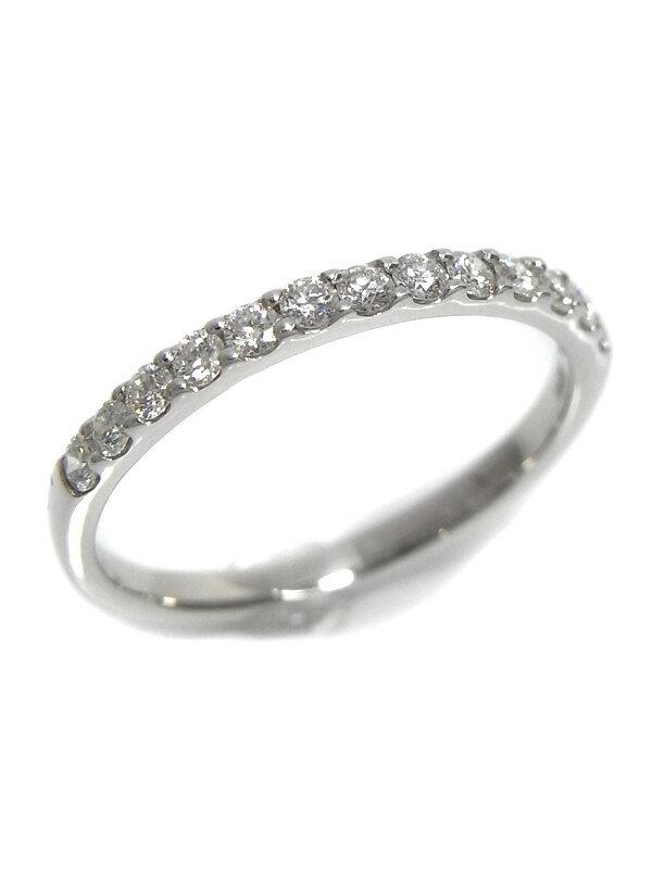 【仕上済】セレクトジュエリー『K18WGリング ダイヤモンド0.30ct ハーフエタニティ』12号 1週間保証【中古】b03j/b03SA