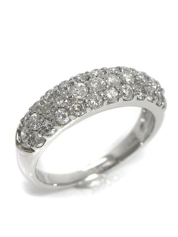 【仕上済】セレクトジュエリー『PT900リング ダイヤモンド1.00ct パヴェダイヤ』12号 1週間保証【中古】b03j/b03SA