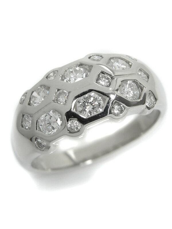 【仕上済】セレクトジュエリー『PT900リング ダイヤモンド1.18ct』13号 1週間保証【中古】b03j/b03SA