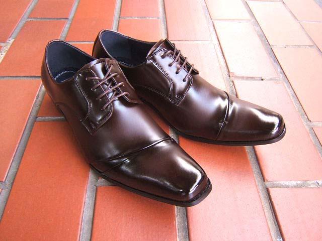 洗練された都会派ビジネスマンにオススメの1足♪メンフィスクラブ/MEMPHIS CLUB 紳士靴 ダークブラウン ロングノーズ ビジネス 送料無料