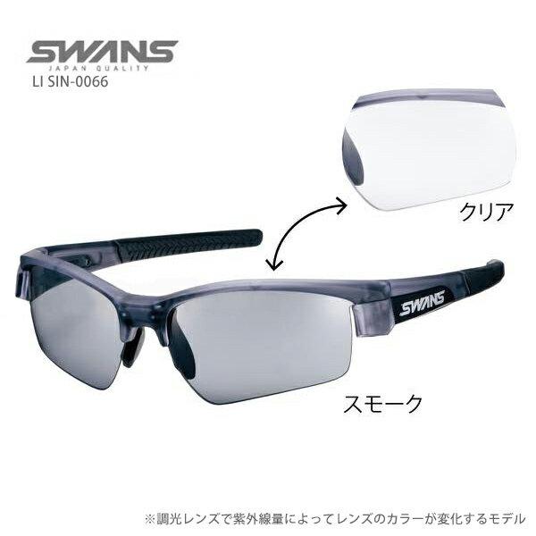 SWANS〔スワンズ サングラス〕LI SIN-0066〔マットクリアスモーク/ブラック/ブラック〕