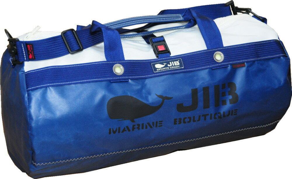 JIB ダッフルバッグMボーダー/プラスティックパーツ仕様 DMB170 モノカラー・ネイビー*約37L*即日発送可