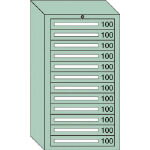 OS ミドルキャビネットMD型 最大積載量1200kg 引出し12段 MD1201/1台【4572530】
