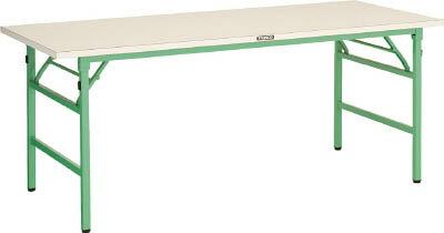TRUSCO UFL型折畳型作業台 1800X750XH740 YG色 UFL1875NYG/1台【4590911】