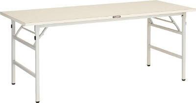 TRUSCO UFL型折畳型作業台 1800X900XH740 W色 UFL1890NW/1台【4590937】