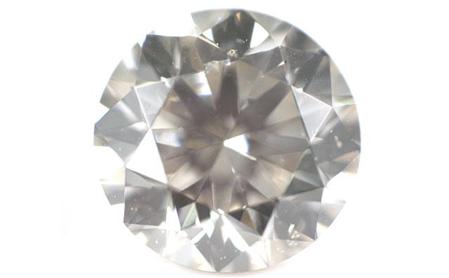 天然グレーダイヤモンド ルース(裸石) 0.363ct 【 ライトイエローイッシュグレー 】 【中央宝石研究所】 【送料無料】