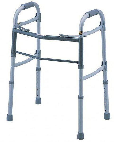歩行器 介護 固定型歩行器デラックスタイプ 0402-SW7713 リハビリ 歩行補助 高齢者用 hkz