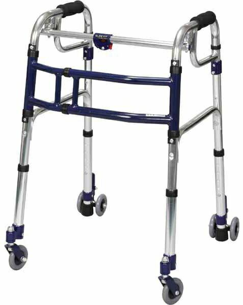 介護 歩行器 ハイタイプ スライドフィット 3インチキャスター スタンダード 室内専用 H-0193C hkz 福祉用具 通販