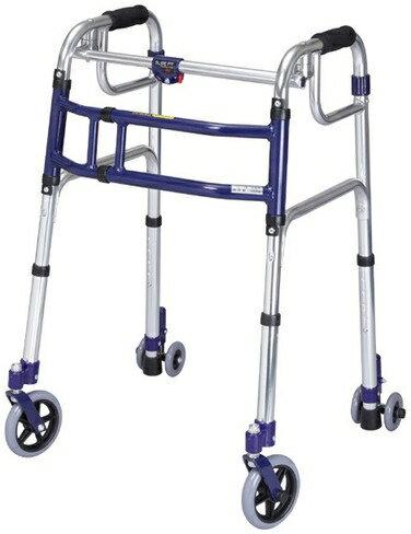 歩行器 ロータイプ スライドフィット 5インチキャスター 室内・屋外兼用 L-0195C 介護用品 hkz 福祉用具 通販
