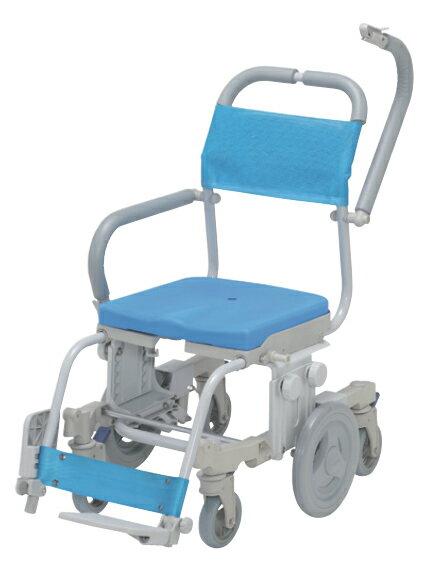 シャトレチェア6輪 穴無シート SW-608 ウチヱ 介護用品 シャワーキャリー 入浴用車いす 福祉用具 通販