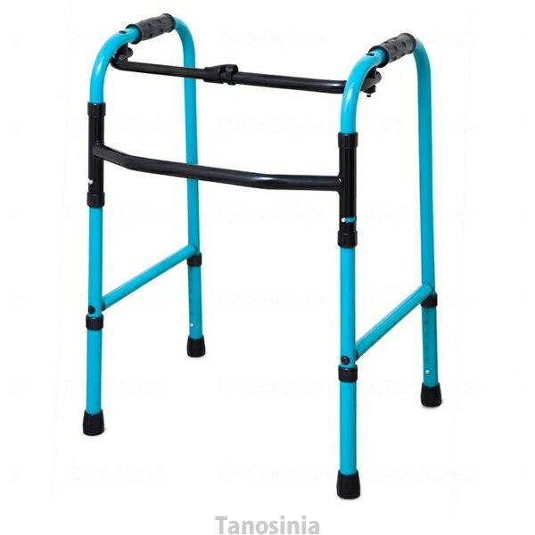 歩行器 介護 折りたたみ式歩行器 C2021 Rキャスター付 リハビリ 歩行補助 高齢者用 hkz 福祉用具 通販