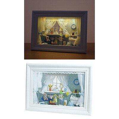 【カード決済OK】イシグロ ドールハウス クロック ボックス型 オープンタイプ (ランプ 時計付) 19/207