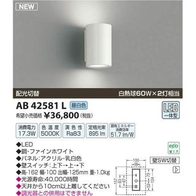 【カード決済OK】コイズミ LEDブラケット AB42581L