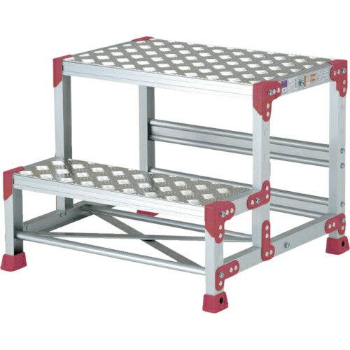 ピカコーポレイション ピカ 作業台 ZG-P型縞板仕様 2段 幅55cm高さ50cm ZG255P
