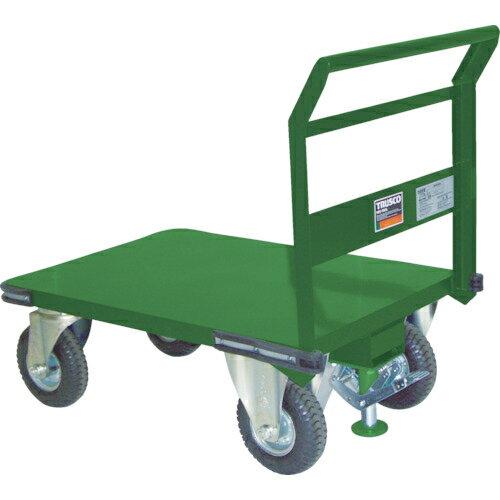 トラスコ中山 TRUSCO 鋼鉄製運搬車 プレス製空気入タイヤ・ストッパー付1200X600 SH-2LN-ARS