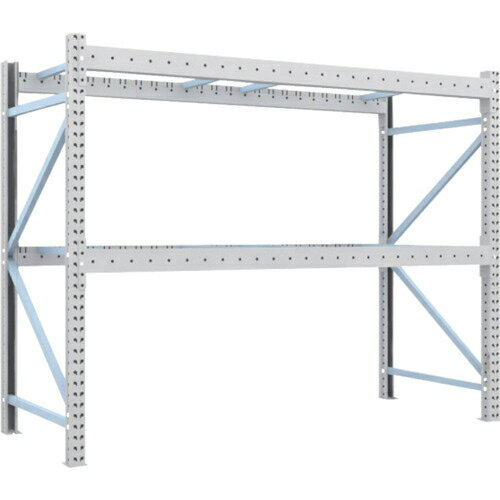 トラスコ中山 TRUSCO ��パレット棚2トン25��×1���×H2����体 2D-20B25-10-2
