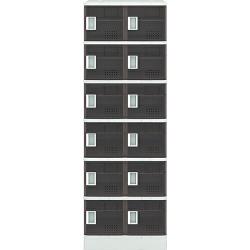 【カード決済OK】アイリスチトセ アイリスチトセ 樹脂ロッカー12人用 クリアブラウン TJLS26STBR