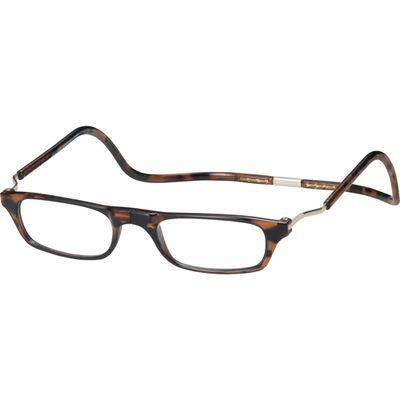オーケー光学 老眼鏡クリック(clic) エクスパンダブルXDM ダークデミ +2.0 E463991H【納期目安:1週間】