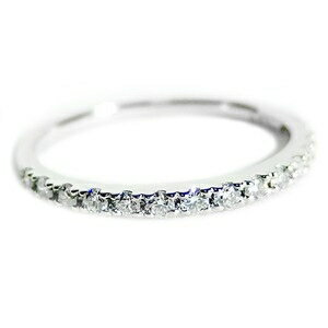 その他 【鑑別書付】プラチナPT900 天然ダイヤリング 指輪 ダイヤ0.20ct 8号 ハーフエタニティリング ds-1235837