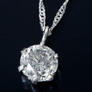 その他 純プラチナ 0.3ctダイヤモンドペンダント/ネックレス スクリューチェーン(鑑別書付き) ds-1316280