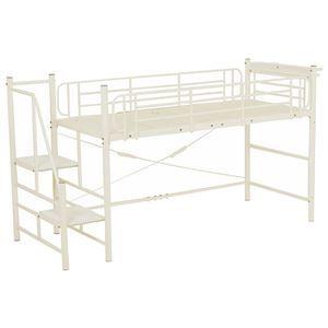 その他 階段式ロフトベッド/システムベッド 【ロータイプ アイボリー】 シングルサイズ スチール 二口コンセント/宮付き ds-1315055