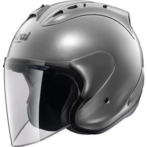 その他 ジェットヘルメット シールド付き SZ-RAM4 アルミナシルバー 57-58 【バイク用品】 ds-1443354