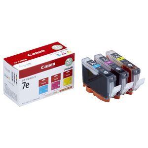 その他 (まとめ) キヤノン Canon インクタンク BCI-7e/3MP 3色マルチパック 1018B004 1箱(3個:各色1個) 【×3セット】 ds-1571936