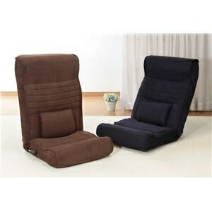 その他 腰にやさしい高反発座椅子DX(座ったままリクライニング) 1脚 ネイビー ds-1637746