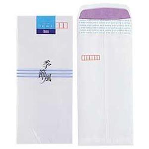 その他 (業務用セット) オキナ 和封筒 季節風 二重封筒 長形4号 1パック(10枚)  【×100セット】 ds-1638171