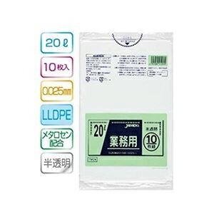 その他 業務用20L 10枚入025LLD+メタロセン半透明 TM24 (60袋×5ケース)300袋セット 38-327 ds-1722322