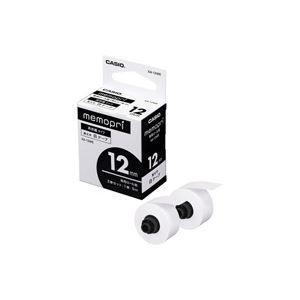その他 (業務用100セット) カシオ CASIO メモプリ テープ12mm幅白 XA-12WE 2巻 ×100セット ds-1732258